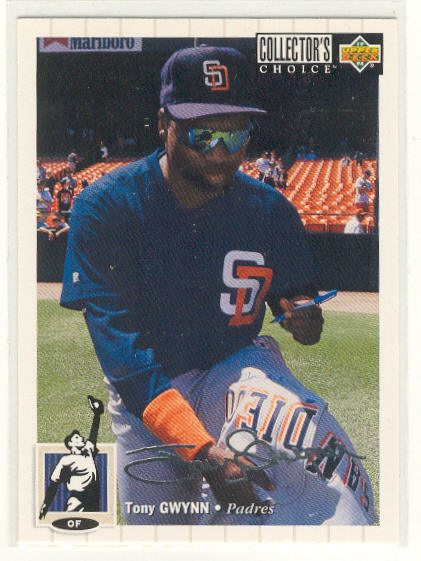 1994 Collector's Choice Silver Signature #122 Tony Gwynn
