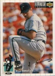 1994 Collector's Choice Silver Signature #127 Bryan Harvey