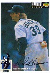 1994 Collector's Choice Silver Signature #132 Mike Henneman