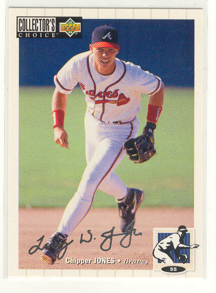 1994 Collector's Choice Silver Signature #152 Chipper Jones