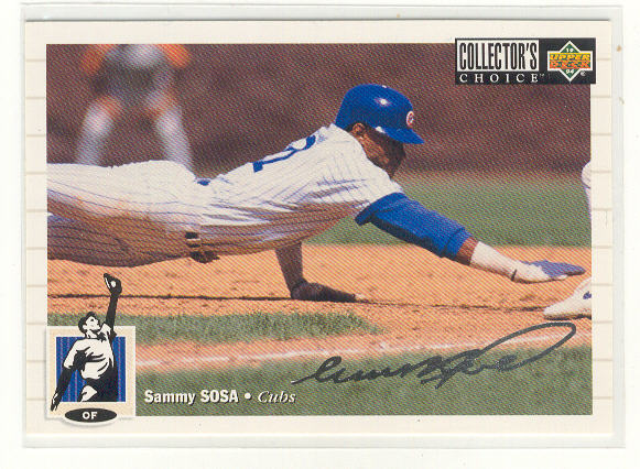 1994 Collector's Choice Silver Signature #263 Sammy Sosa