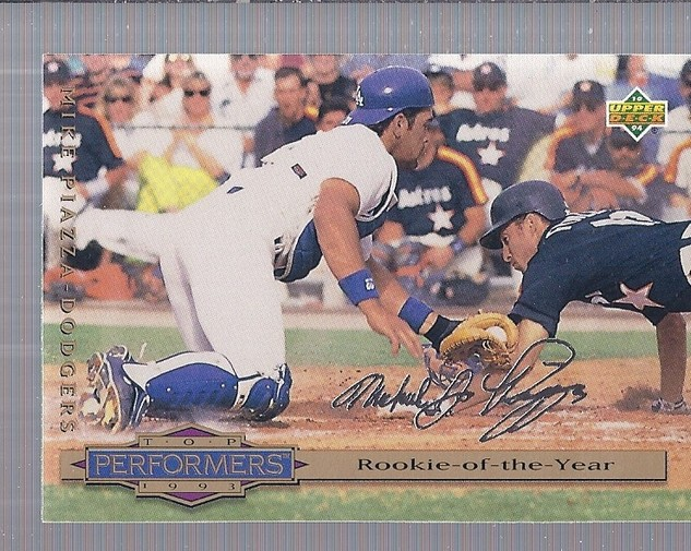 1994 Collector's Choice Silver Signature #310 Mike Piazza TOP
