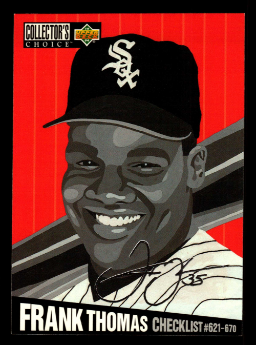 1994 Collector's Choice Silver Signature #327 Frank Thomas CL