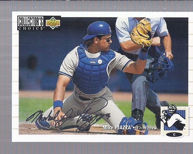 1994 Collector's Choice Silver Signature #400 Mike Piazza