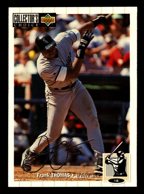 1994 Collector's Choice Silver Signature #500 Frank Thomas