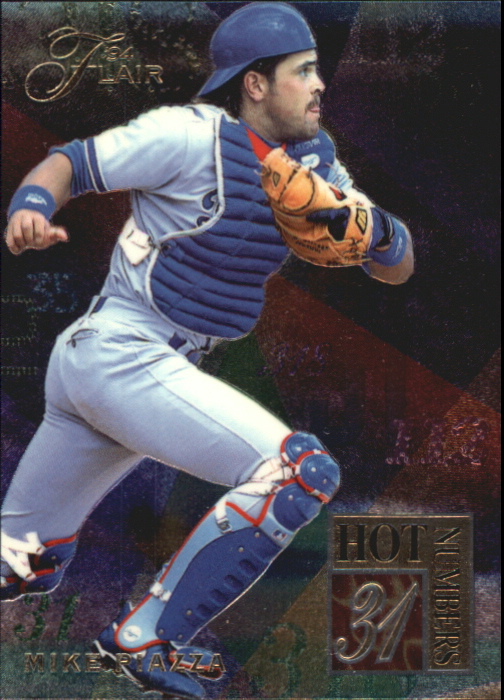 1994 Flair Hot Numbers #7 Mike Piazza
