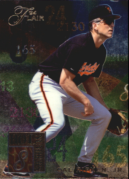 1994 Flair Hot Numbers #8 Cal Ripken