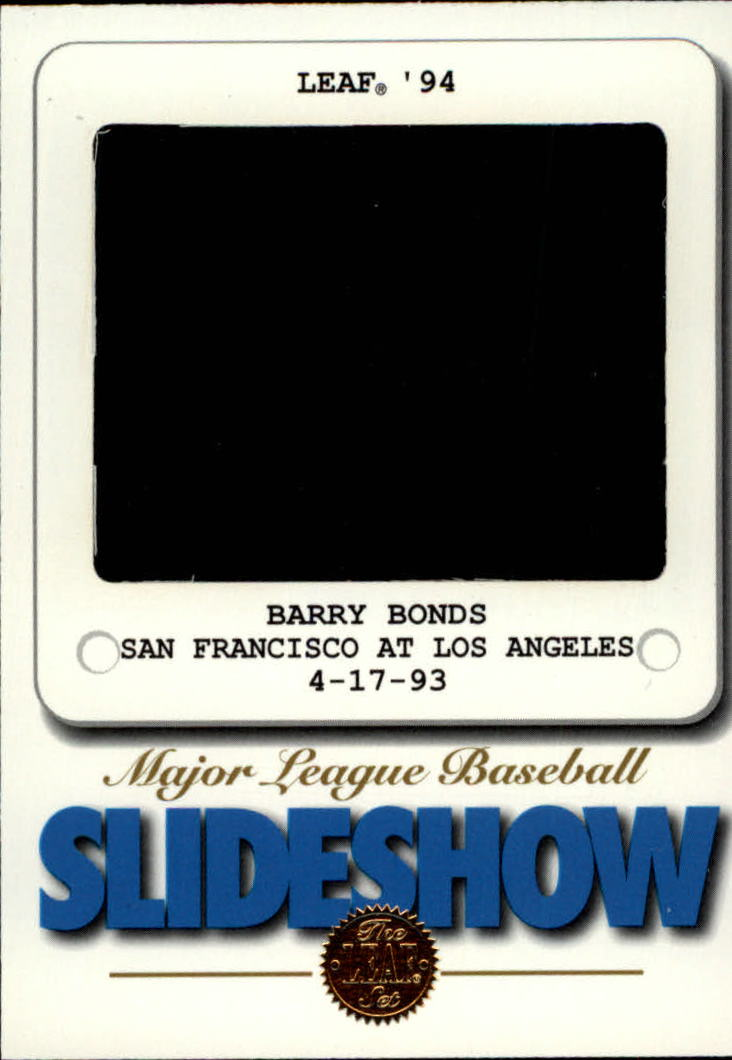 1994 Leaf Slideshow #6 Barry Bonds