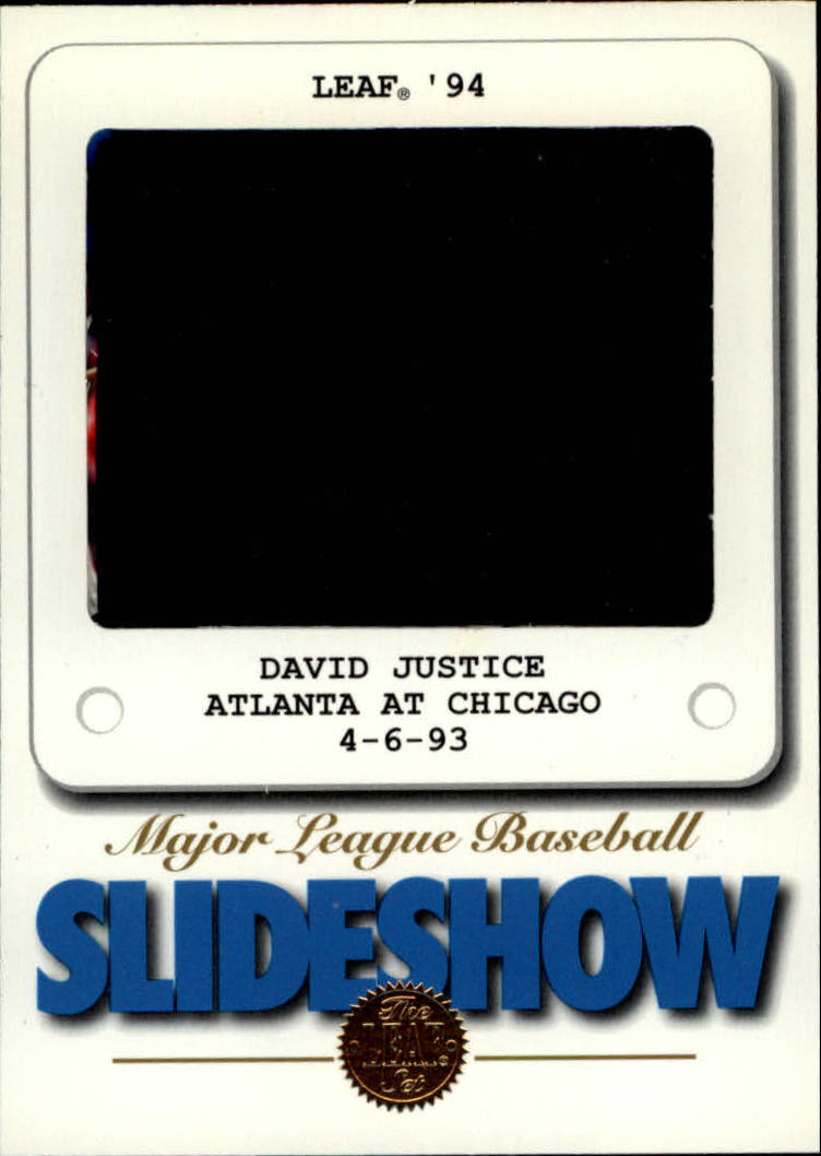 1994 Leaf Slideshow #10 David Justice