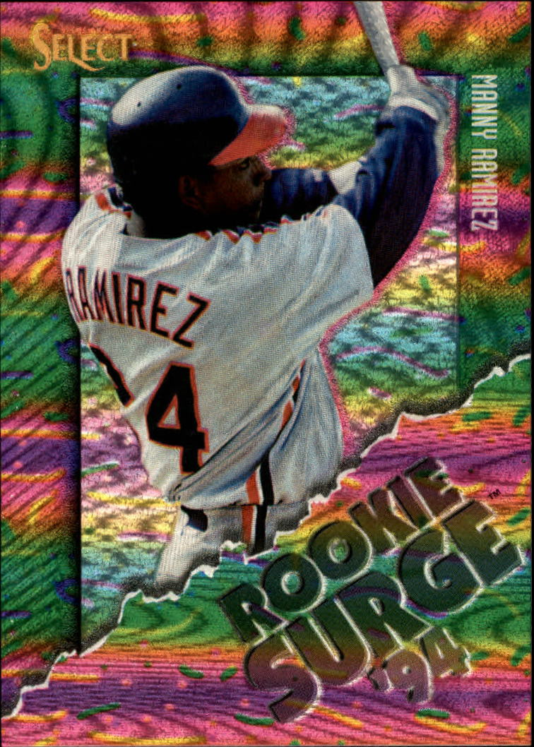 1994 Select Rookie Surge #RS10 Manny Ramirez