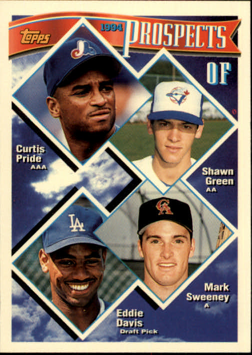 1994 Topps #237 Pride RC/Green/Sweeney RC