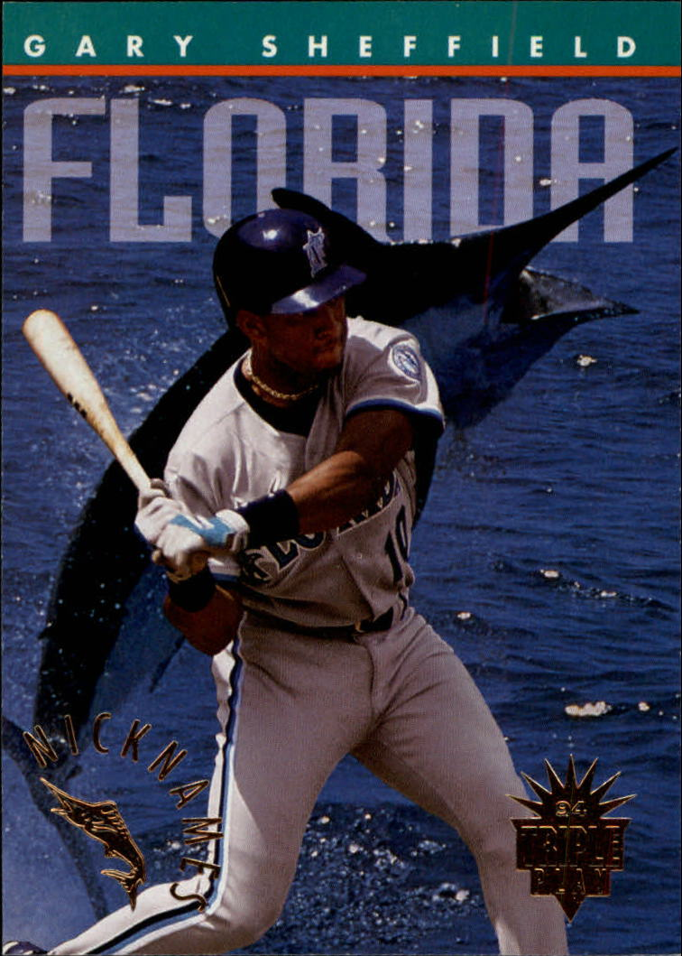 1994 Triple Play Nicknames #3 Gary Sheffield