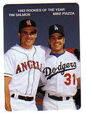 1994 Mother's Piazza/Salmon #2 Mike Piazza/Tim Salmon/(With arms draped/over e