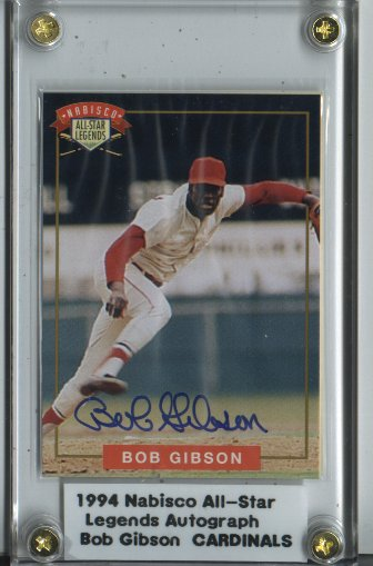 1994 Nabisco All-Star Autographs #1 Bob Gibson