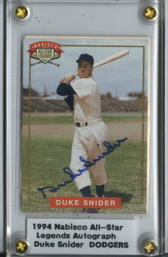 1994 Nabisco All-Star Autographs #4 Duke Snider