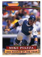1994 Rembrandt Ultra-Pro Piazza #2 Mike Piazza/(In uniform, trying to/make play)