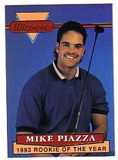 1994 Rembrandt Ultra-Pro Piazza #3 Mike Piazza/(In golf shirt,/golf club on shoulde