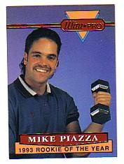 1994 Rembrandt Ultra-Pro Piazza #5 Mike Piazza/(In golf shirt,/dumbbell in hand)