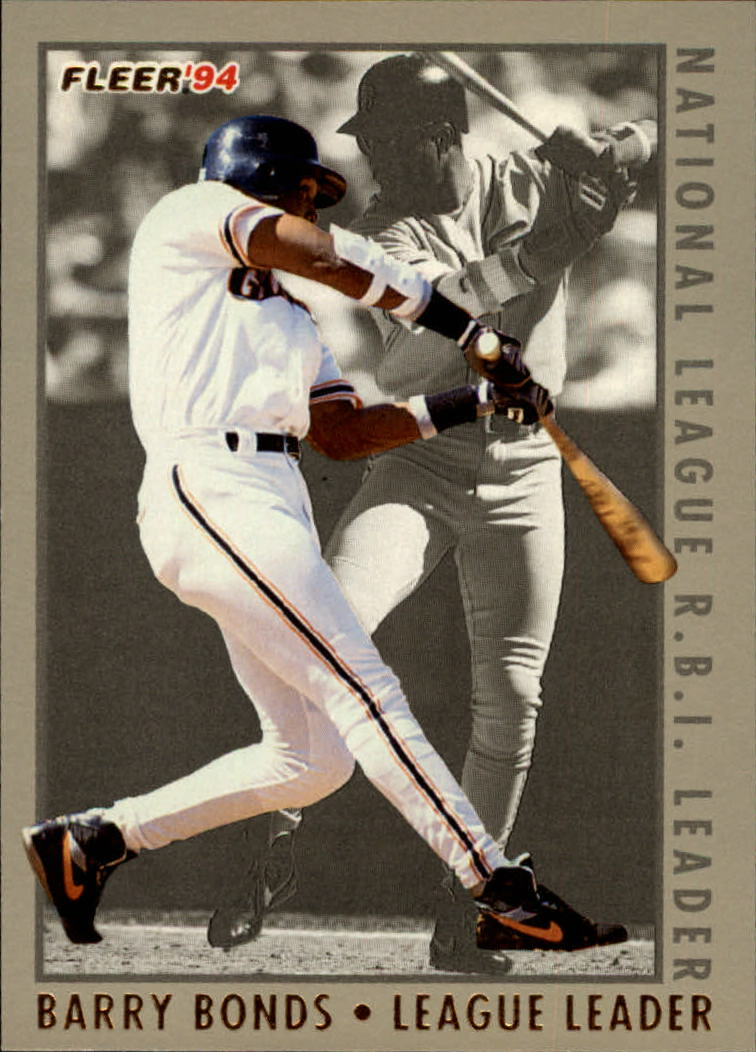 1994 Fleer League Leaders #8 Barry Bonds