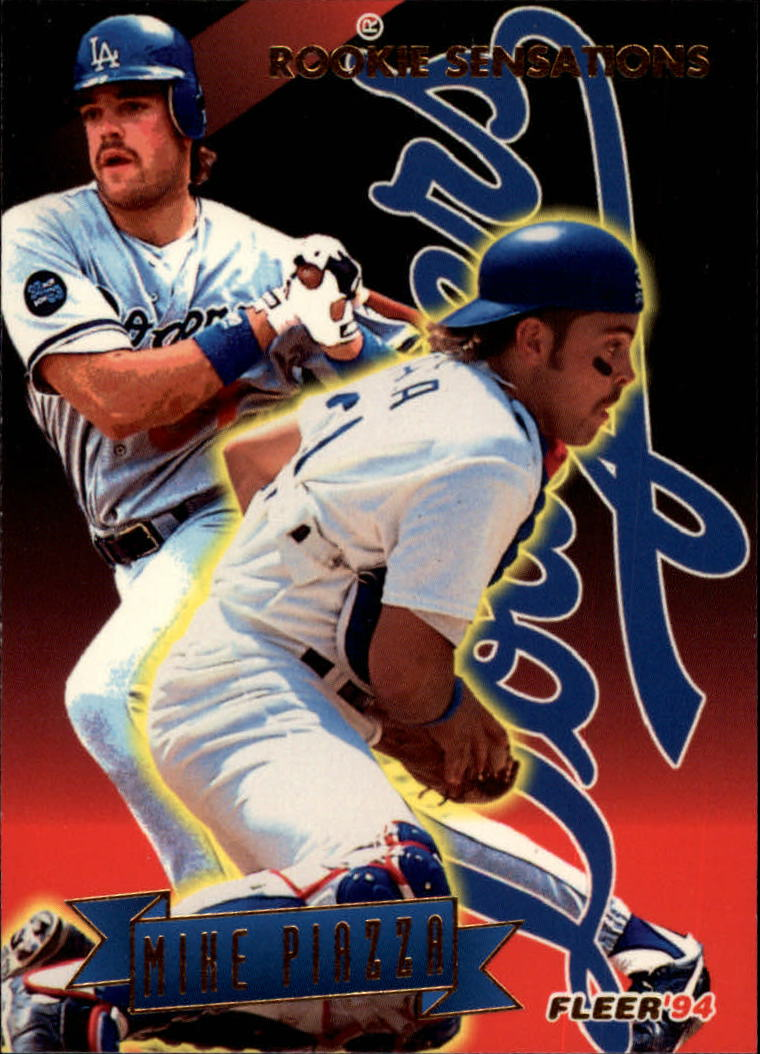 1994 Fleer Rookie Sensations #14 Mike Piazza
