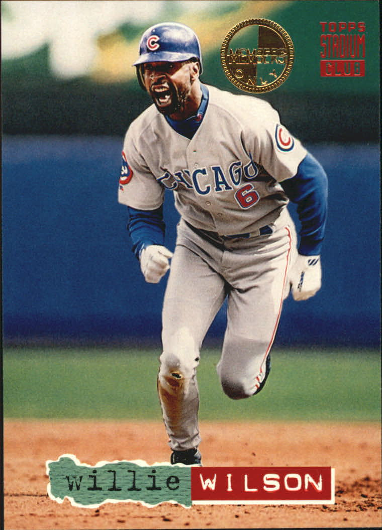1994 Stadium Club Members Only Parallel #311 Willie Wilson