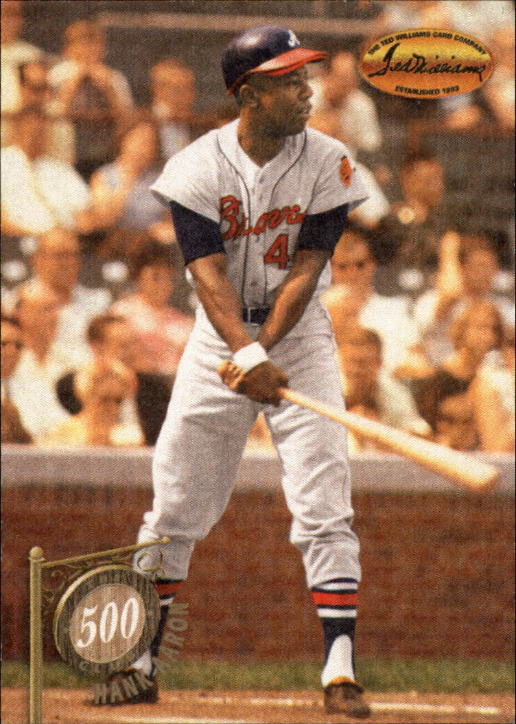 1994 Ted Williams 500 Club #1 Hank Aaron