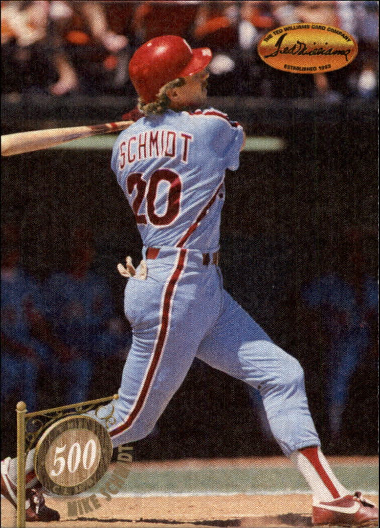 1994 Ted Williams 500 Club #7 Mike Schmidt front image