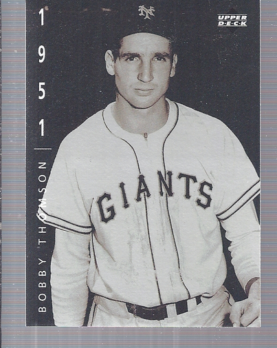 1994 Upper Deck: The American Epic #58 Bobby Thomson