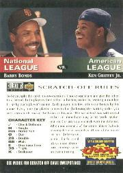1994 Collector's Choice Team vs. Team #2 B.Bonds/K.Griffey