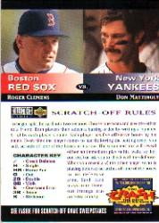 1994 Collector's Choice Team vs. Team #3 R.Clemens/D.Mattingly
