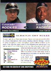 1994 Collector's Choice Team vs. Team #5 A.Galarraga/T.Gwynn