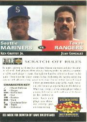 1994 Collector's Choice Team vs. Team #7 K.Griffey/J.Gonzalez