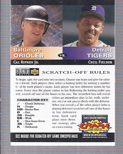1994 Collector's Choice Team vs. Team #13 C.Ripken/C.Fielder