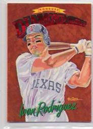 1994 Donruss Diamond Kings Jumbo #DK10 Ivan Rodriguez