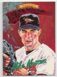 1994 Donruss Diamond Kings Jumbo #DK26 Mike Mussina