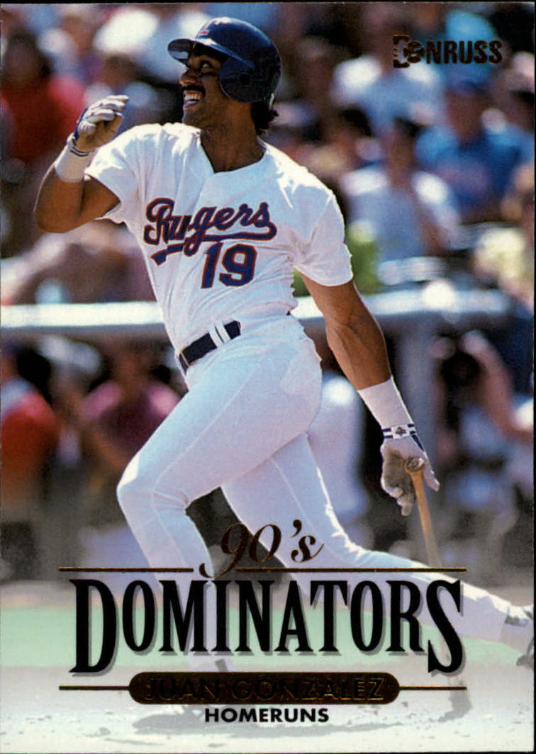 1994 Donruss Dominators #A6 Juan Gonzalez