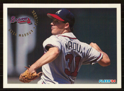 1994 Fleer #365 Greg Maddux