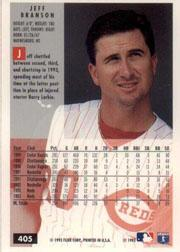 1994 Fleer #405 Jeff Branson back image