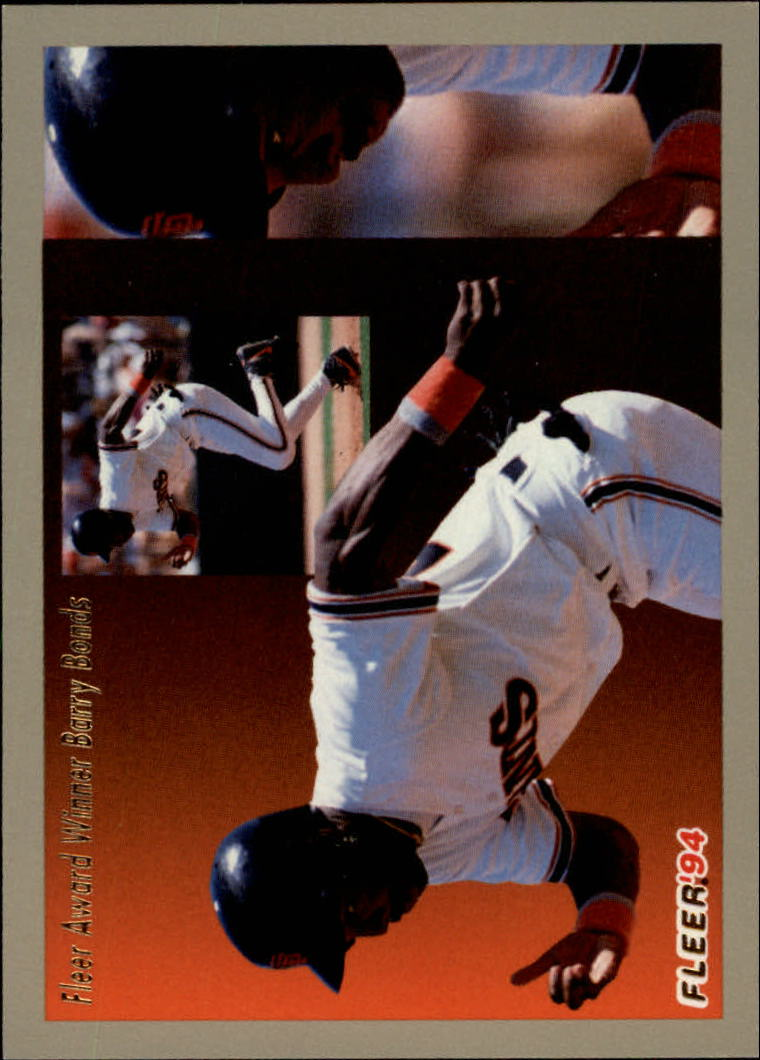 1994 Fleer Award Winners #2 Barry Bonds