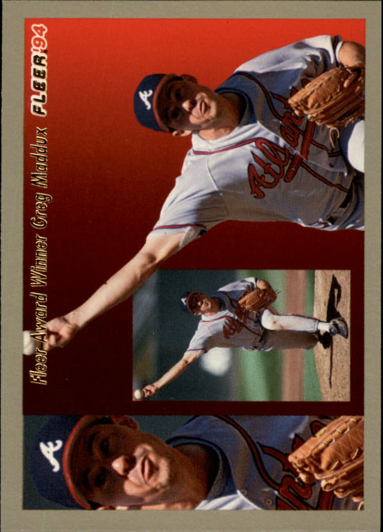 1994 Fleer Award Winners #4 Greg Maddux