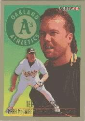1994 Fleer Team Leaders #11 Mark McGwire