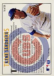 1994 Fleer Team Leaders #16 Ryne Sandberg back image