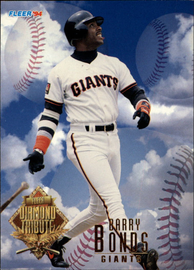 1994 Fleer Update Diamond Tribute #1 Barry Bonds