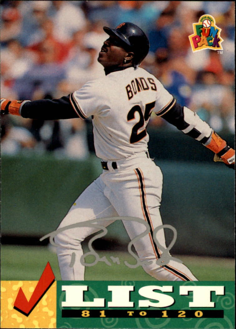 1994 Fun Pack #237 Barry Bonds CL