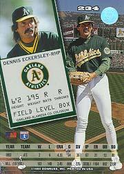 1994 Leaf #234 Dennis Eckersley back image