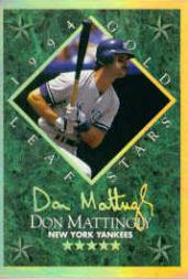 1994 Leaf Gold Stars #6 Don Mattingly