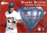 1994 Pacific Silver Prisms #28 Barry Bonds back image
