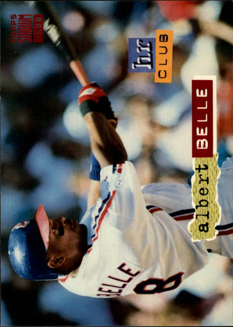 1994 Stadium Club #258 Albert Belle HR