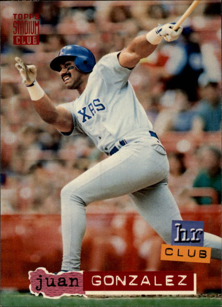 1994 Stadium Club #261 Juan Gonzalez HR