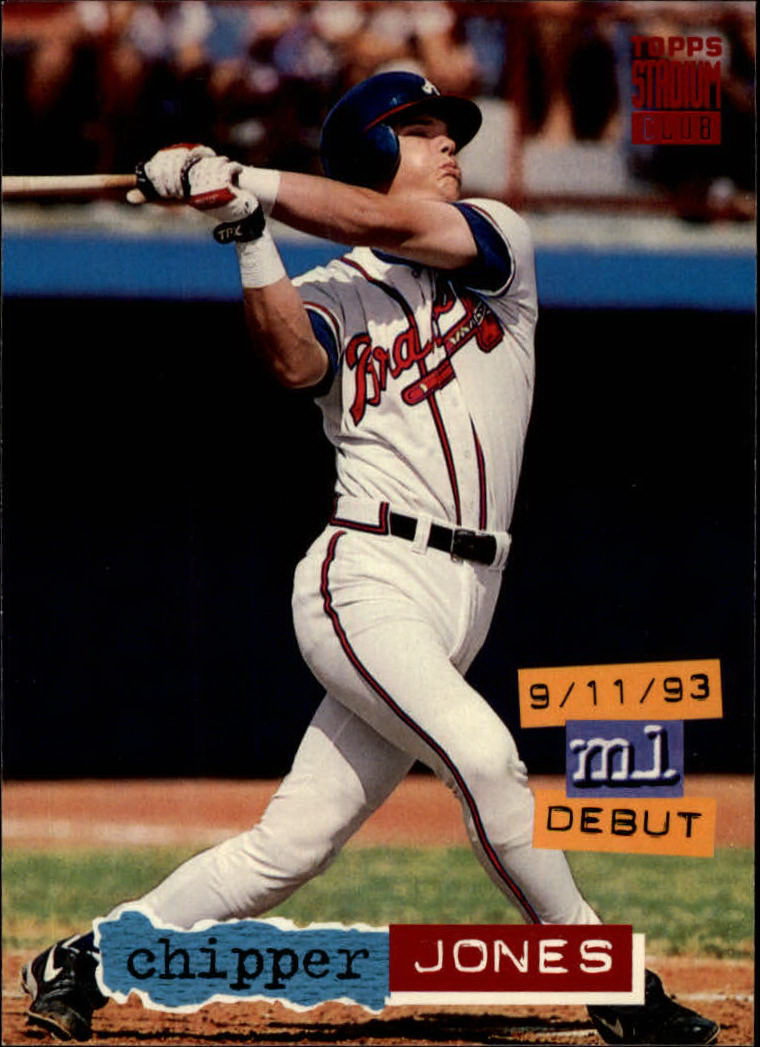 1994 Stadium Club #638 Chipper Jones